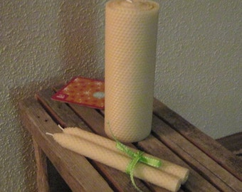 Eco-friendly Natural Beeswax Wedding Candles