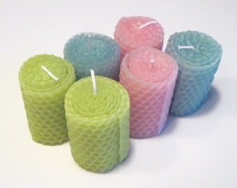 Spring Votive Beeswax Candles