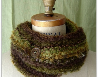 Infinity Cowl Scarf  Baby Mohair Scarf Green 50% OFF