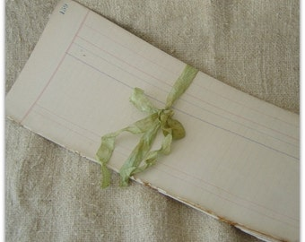 Antique Blank Pages from Ledger Dated 1899 - 1901