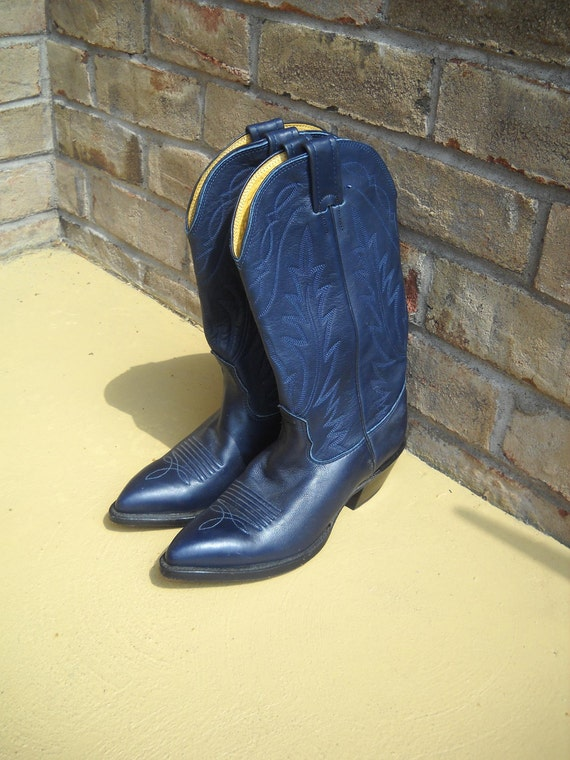 Navy Blue Cowgirl Boots Cr Boot