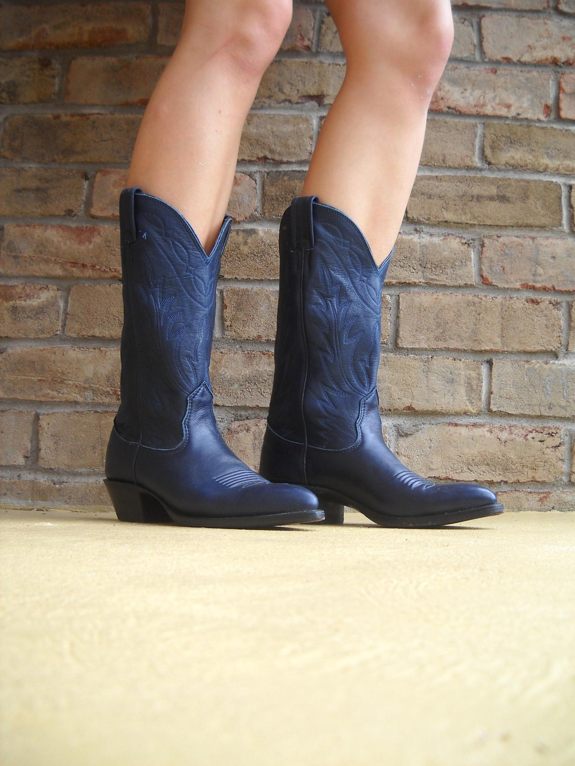 Reserved Vintage Nocona Women S Cowboy Boots Navy Blue