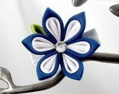 Starlet Fabric Flower Kanzashi Hair Clip - Medium