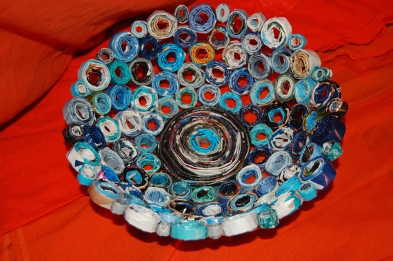 Handmade Recycled Magazine Bowl
