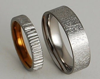 Titanium Rings ,  Wedding Bands , Promise Rings , Acropolis and Jupiter Bands