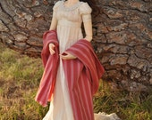 "Natural Ivory Cotton pre-Regency ""Directoire"" Gown for Super Dollfie 13 BJD (version one)"