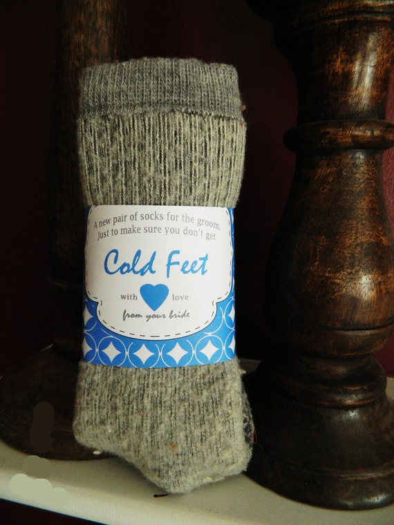 Cold Feet Sock Wrap for the Groom