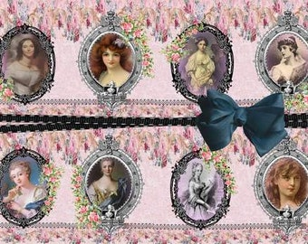 INSTANT DOWNLOAD Vintage Ladies No:16  Personal Use Only