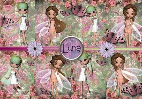 INSTANT DOWNLOAD Springtime Fairies  No:217  Personal Use Only Download Clip Art Scarpbooking Personal Use Only Gift Tags