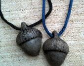 Stone Acorn Necklace Free Shipping