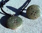 Green Circle Knot Ring & Necklace Set Free Shipping