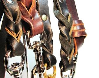 Walking Leather Leash Lead 4 Foot