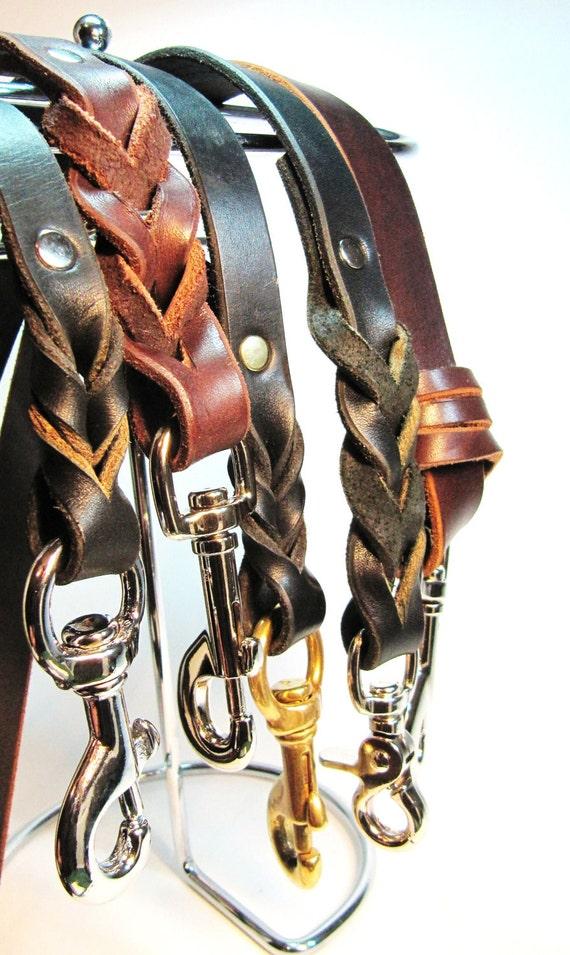 Walking Leather Leash Lead 5 foot.