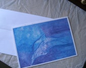 Dolphins in Blue Greeting Card