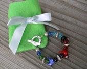 Summer Birds Children's Bracelet With A Gift Pocket