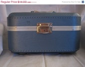 END OF SUMMER Sale... Blue Trojan Train Case - Vintage Deal from Flipping Out on Etsy