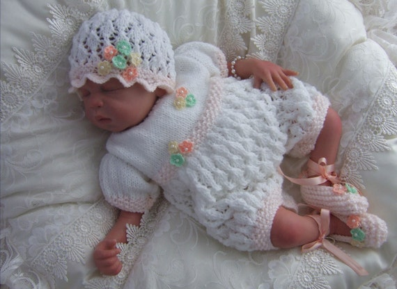 Knitting Patterns For Babies To Download : Baby Girls Knitting Pattern Download PDF Knitting Pattern