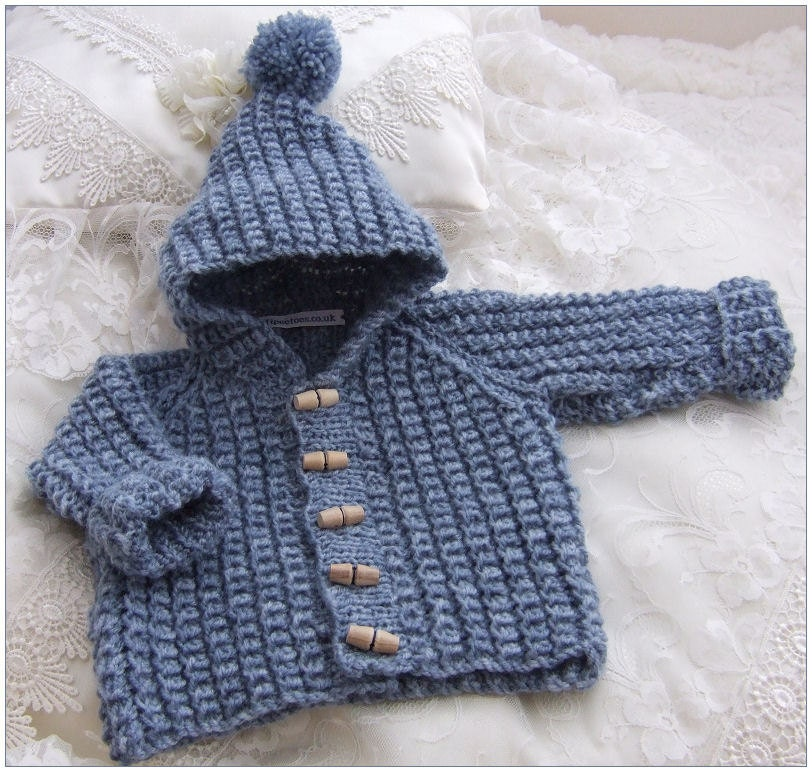 Knitting Pattern Hooded Vest : PDF Knitting Pattern for Mock Cabled by PreciousNewbornKnits