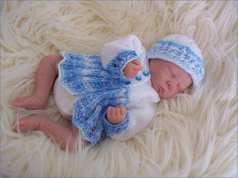 Baby Knitting Pattern Early Baby or Preemie Reborn Doll