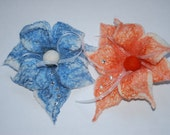 Special order for Hulya Willis set of 2 hand felted flower brooches