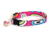 Safety Cat Collar - Groovy Pink - Breakaway Cat Collar