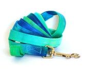 6 ft Leash - Blue and Green Tie Dye