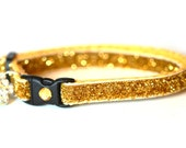 Glitter Cat Collar - Glitzy Gold - Standard (Large) Size