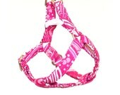 Mini Step In Dog Harness - Pink Swirl