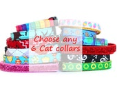 Stock Up Lot of 6 Cat Collars of Your Choice