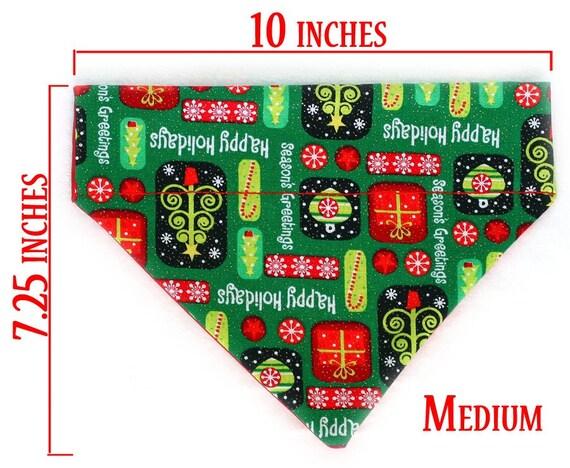RESERVED FOR NATALIE Medium Pet Bandana - Christmas Evergreen - Free Shipping