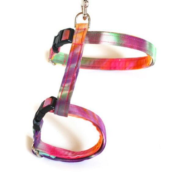 Large Cat Harness - Tie Dye