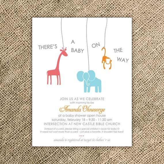 animal baby shower invitation jungle baby shower invitation