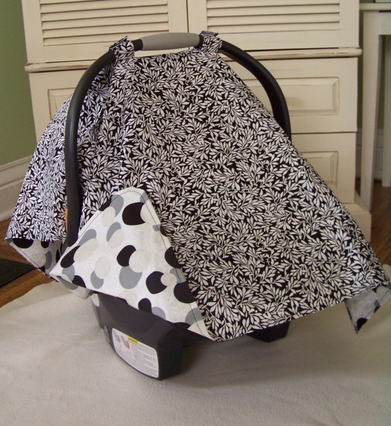 Black/White Car Seat Canopy/Tent