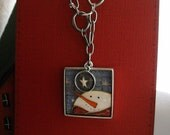 Snowman Necklace Pendant Wish Upon A Star, FREE SHIPPING, jewelry by kimberleeannkreation on Etsy