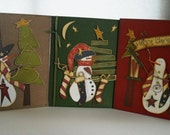 Snowmen Gift Certificate Christmas Cards, Set of 3, FREE SHIPPING, cards by kimberleeannkreation on Etsy
