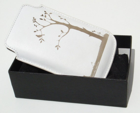 Iphone leather cover (white)