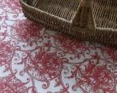 French Farmhouse Damask Table Cloth