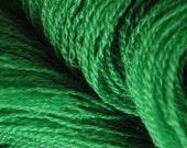 Recycled Merino Lace Yarn - Grass Green - Fine Upcycled Yarn and Recycled Yarn