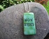 Pendant - WoW Nerd domino pendant necklace