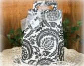 Schwarze und weiße Damast-Hochzeit Geschenk-Box - FREE Shipping großen Geburtstag, Party gefallen Tasche Geschenkpapier oder Geschenk-Box, handmadewithlove13