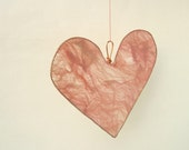 Silk Fusion Hanging Heart Pale Pink, wedding decoration, home decor
