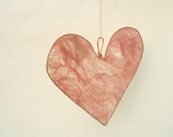 Silk Fusion Heart Pale Pink, wedding decor