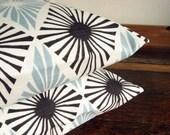 Graphic diamond pale blue 18 inch handmade cushion pillow cover