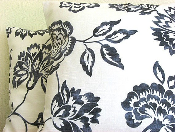16 Inch Pillow Sham Cushion Cover Pillow Cover - Camellia Black