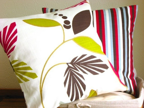 Graphic Pillow Cover 16 Inch Cushion Cover Pillow Sham - Graphic Leaf Berry