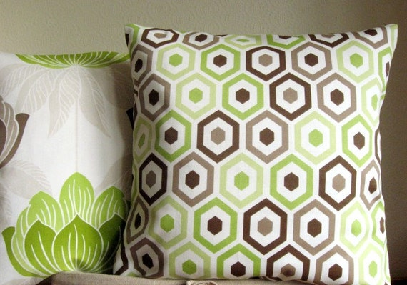 16 Inch Pillow Sham Cushion Cover Throw Pillow Cover - Beehive Lime