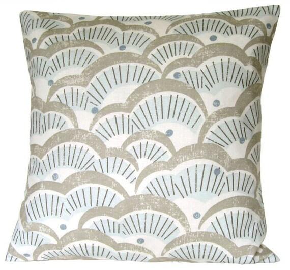 Designer Cushion Cover 18x18 Pillow Cover 18 Inch Pillow Sham - Tundra Pale Blue