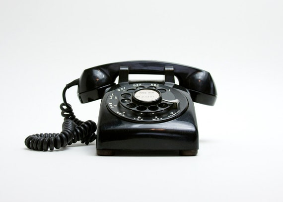 Rotary Phone - Black, Western Electric, Mid Century