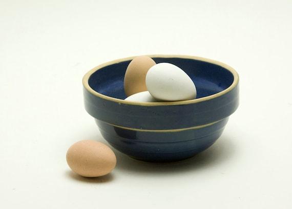 Mixing Bowl - Blue, Stoneware, Vintage