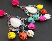 Sugar Skull Frida Kahlo Inspired Sugar Skull Earrings